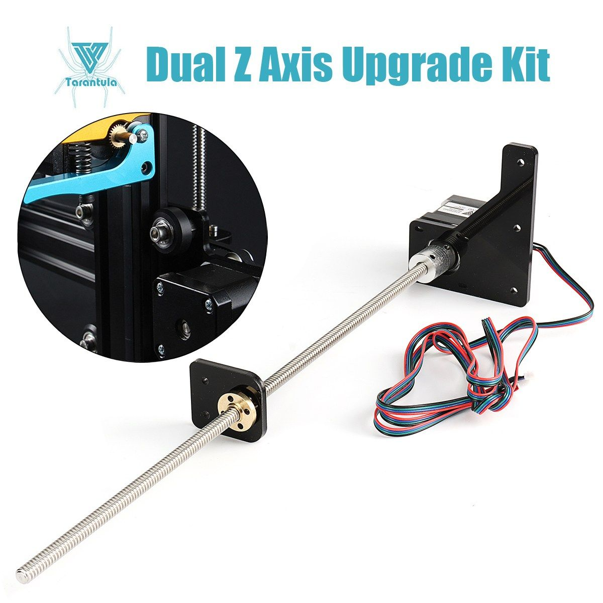 Tarantula Dual Z Axis Upgrade Kit Nema 42 Step Motor and T8*2 Lead Screw 375 mm 8mm with Brass Copper for 3D Printer Part