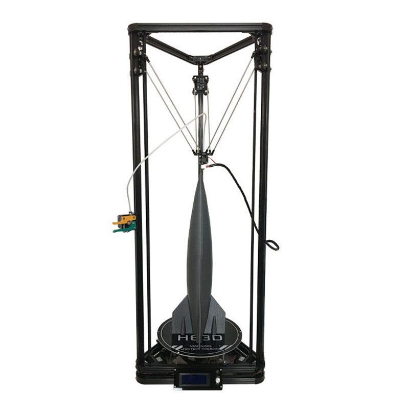 HE3D Neueste Kossel K280 große delta 3D drucker kit impresora 24 v 400 watt power mit auto level und wärme bett zwei filament für geschenk