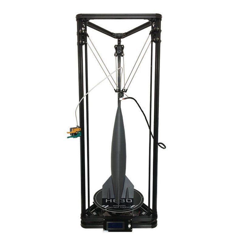 HE3D NEWest Kossel K280 large delta 3D printer kit impresora 24V 400w power with auto level and heat bed two filament for gift