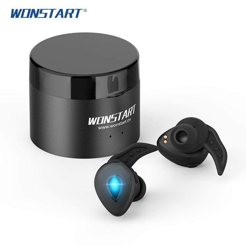 Wonstart W305 TWS Wireless Bluetooth USB wireless Earbuds Sports Headphones with Mic audifono bluetooth earphone with Power box
