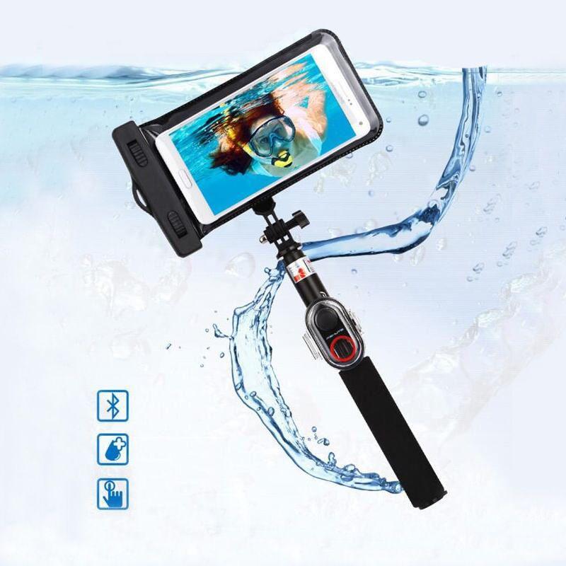 Le bâton imperméable de Selfie de Bluetooth place le monopode extensible de Bluetooth de 245mm-735mm pour les téléphones intelligents de l'iphone Xiaomi Gopro LSR