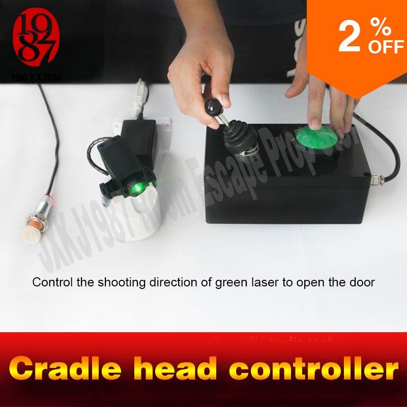 Room escape adventurer spiel requisiten wiege kopf controller einstellen moving laser geöffnetes schloss zu entkommen von kammer zimmer takagism