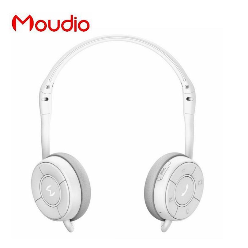 Moudio M100 белый Спортивные наушники Bluetooth стерео музыку Наушники для Samsung Xiaomi Мобильные телефоны с мини микрофон