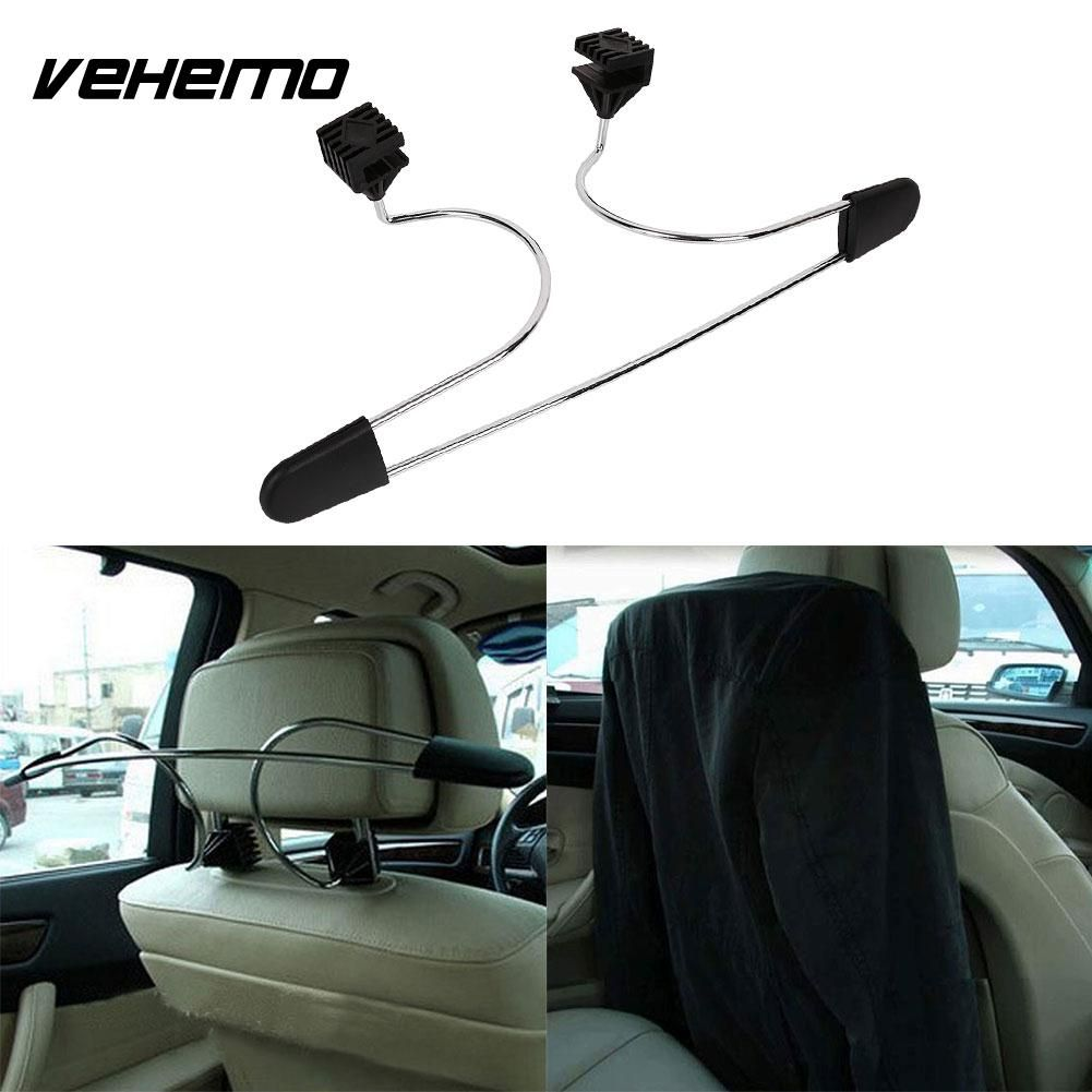 Vehemo Car Vehicles Seat Headrest Clothes Suit Stainless Steel Storage Hanger Holder