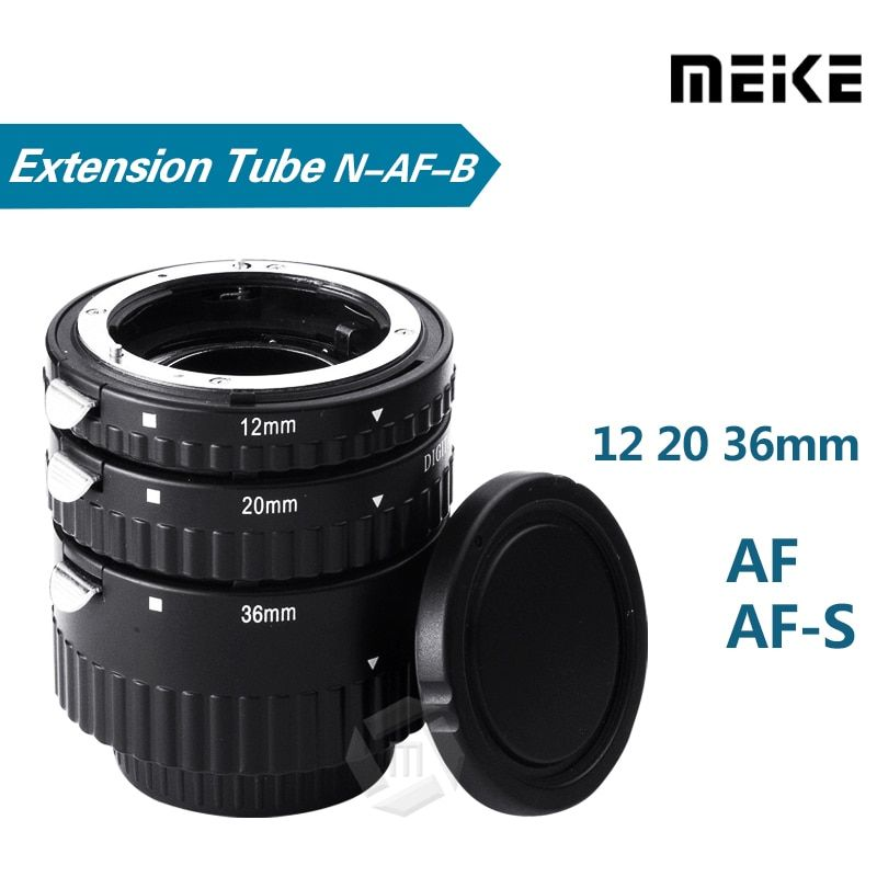 Meike N-AF1-B Auto Focus <font><b>Macro</b></font> Extension Tube Ring for Nikon D7100 D7000 D5100 D5300 D3100 D800 D600 D300s D300 D90 D80