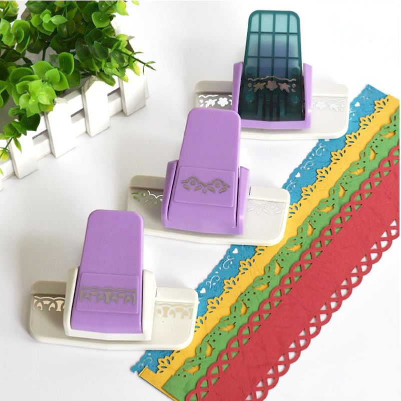 High Quality DIY Scrapbooking Paper Cutter Decorative Flower Edge Hole Punch Embossing Stationary for Kids Gift Handmade 02813