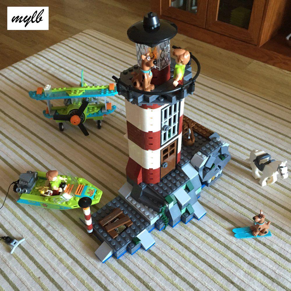 Mylb nouveau 437 pièces hanté phare Scooby Doo modèle briques blocs 3D enfants jouet cadeaux Compatible avec bricolage