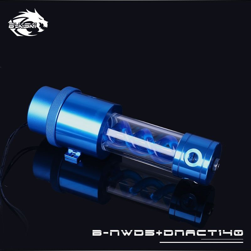 Bykski B-NWD5+DNACT, 140/210mm T virus Reservoir With Pump , Flow Rate 1100L/H , Multi-colored D5 Series Water Pump