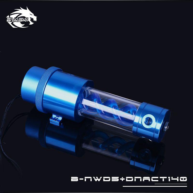 Bykski B-NWD5+DNACT, 140/210mm T virus Reservoir With Pump , Flow Rate 1100L/H , Multi-colored D5 Series Water Pump