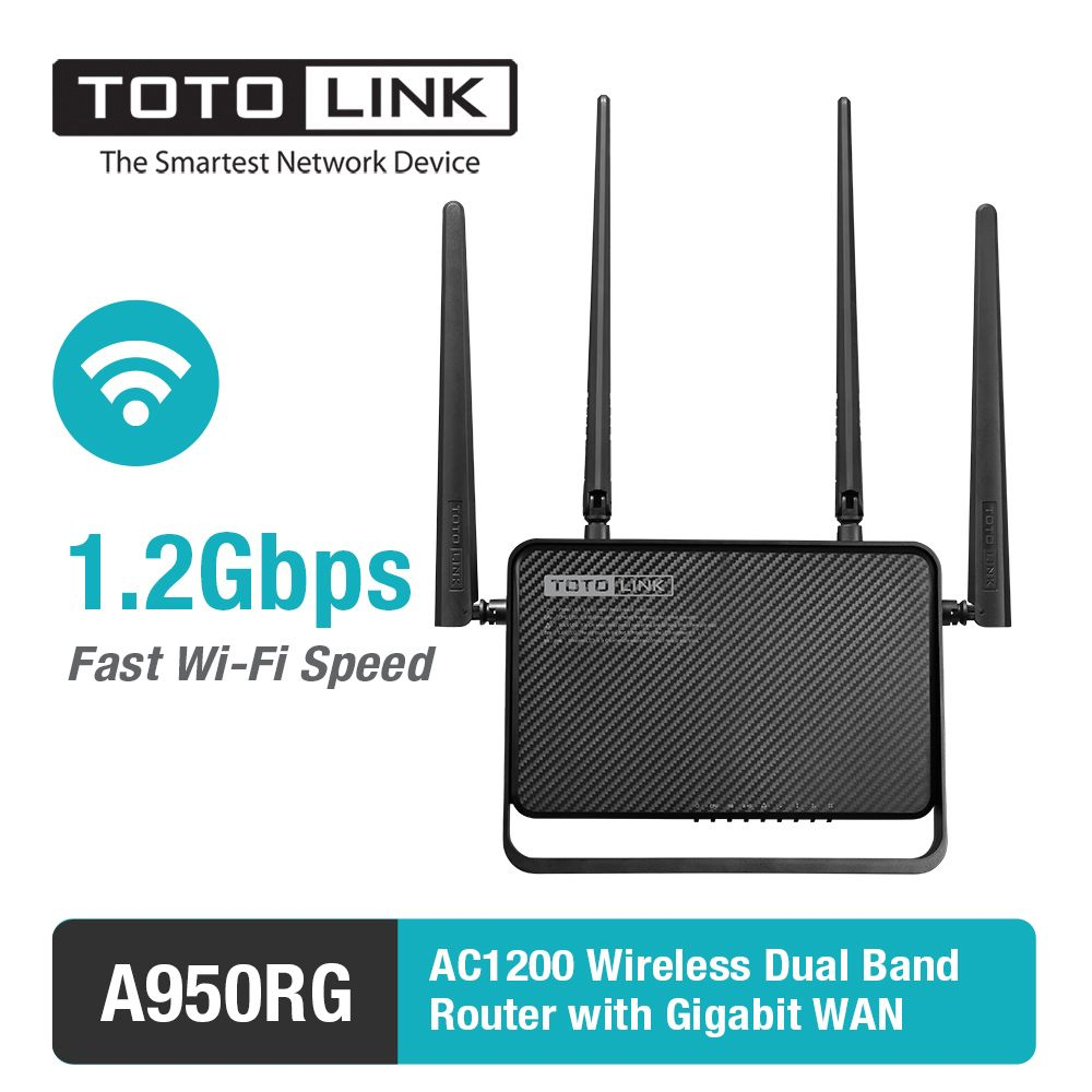 TOTOLINK AC1200 Wireless Dual Band MU-MIMO Router with Gigabit WAN A950RG