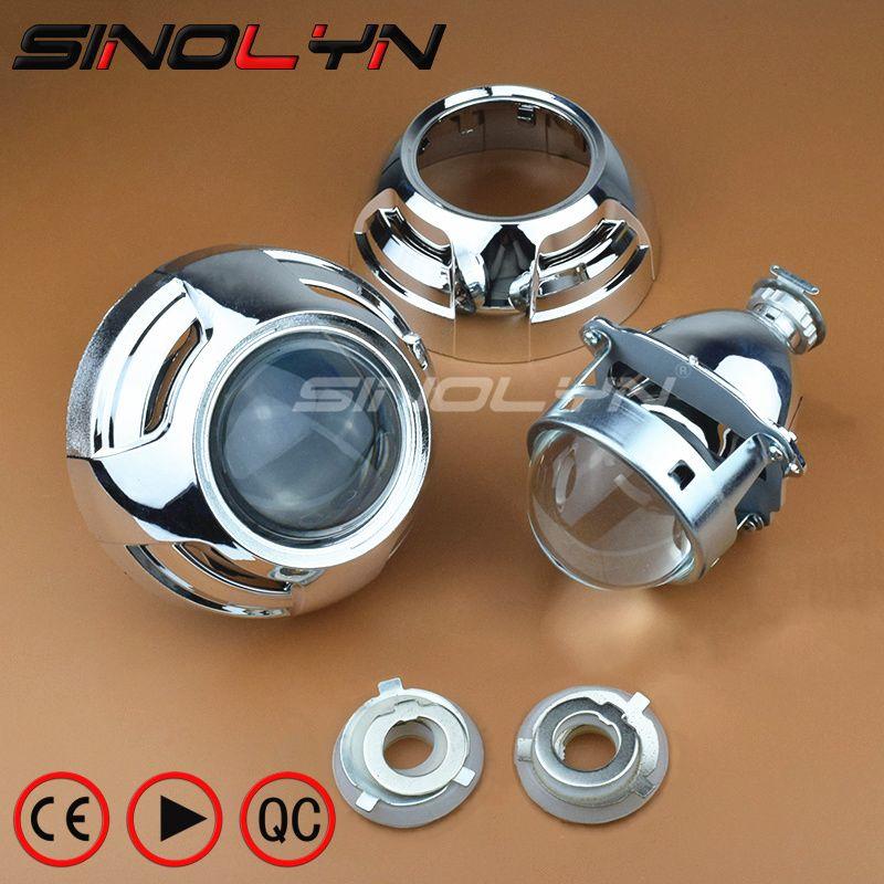 SINOLYN Auto VERSTECKTE Xenon Projektor Super Metall 3,0 ''H1 Bi-xenon Scheinwerfer objektiv Passt H4 H7 LHD RHD Mit Apollo 3,0 Wanten Styling