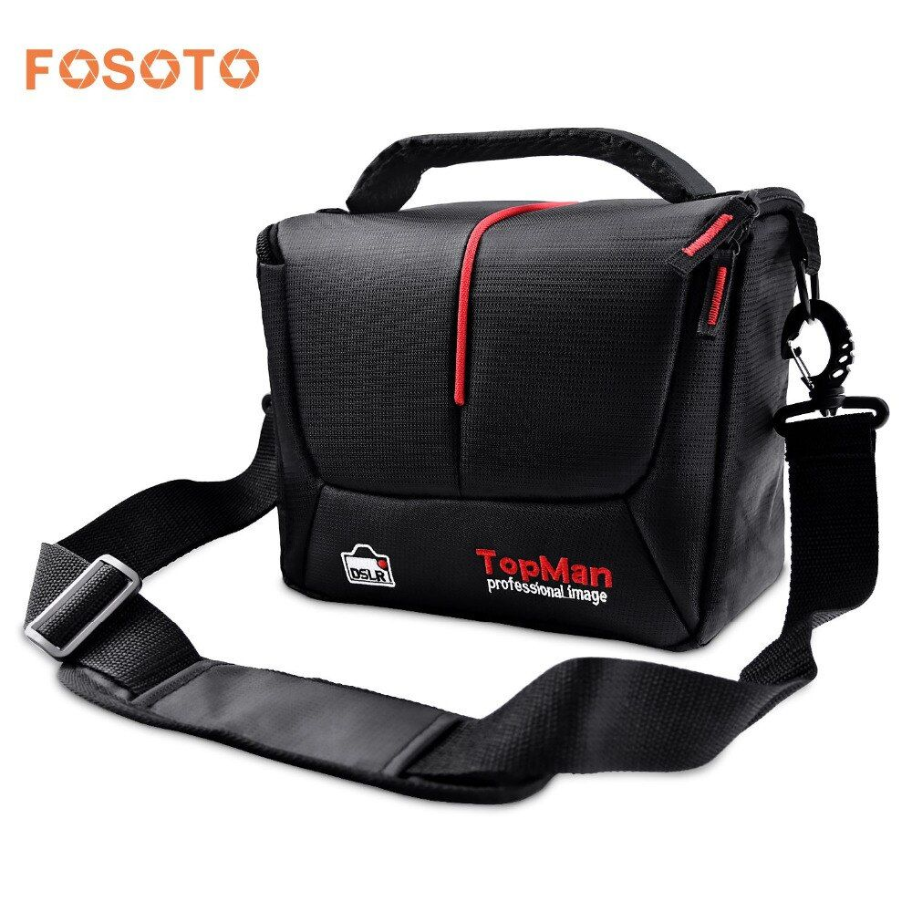 fosoto DSLR Camera Bag Digital photography Photo Video Shoulder Case Cover Nylon Bags For Dslr Sony Canon Nikon D700 D300 D200