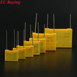 10 Pcs Sécurité 275VAC Condensateur 105 1 UF 223 0.022 UF 225 2.2 UF 334 0.33 UF 473 0.047 UF 474 0.47 UF 104 0.1 UF Condensateurs X2