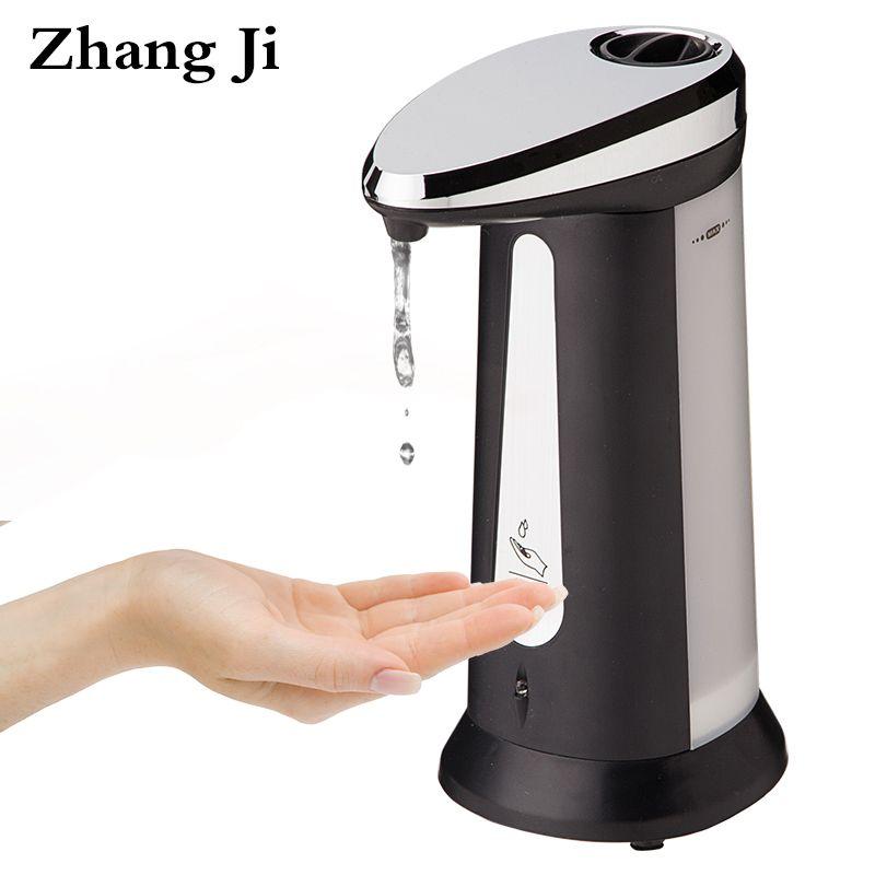 Zhang Ji Automatique Distributeur de Savon Liquide Salle De Bains Cuisine Sans Contact 400 ml ABS Électrolytique Smart Capteur Distributeur de Savon