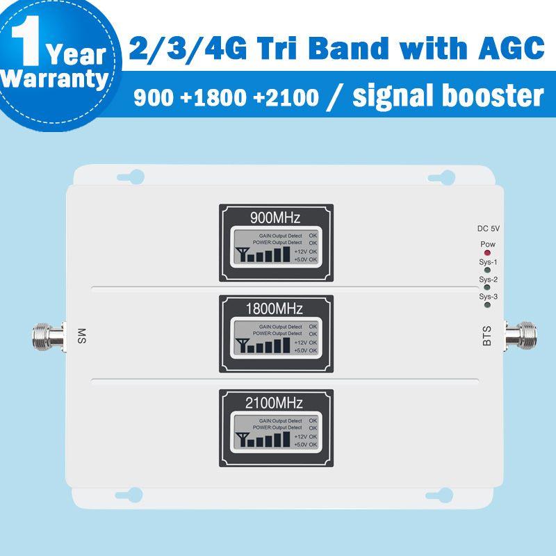 Gsm lte repeater 2g 3g 4g signal verstärker LCD Display 900/1800/2100 MHz repetidor gsm mobile netzwerk booster AGC 4g repeater S41