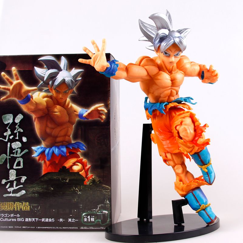 Dragon Ball Z Super Ultra Instinct Goku Son Goku PVC Action Figure Collectible Model Doll Toy Abuot 20CM