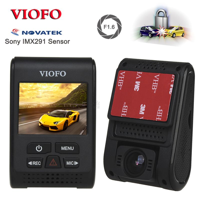 VIOFO A119S V2 2.0 Capacitor <font><b>Novatek</b></font> HD 1080p 7G F1.6 Car Dash cam video Camera DVR optional GPS CPL Hardwire cable