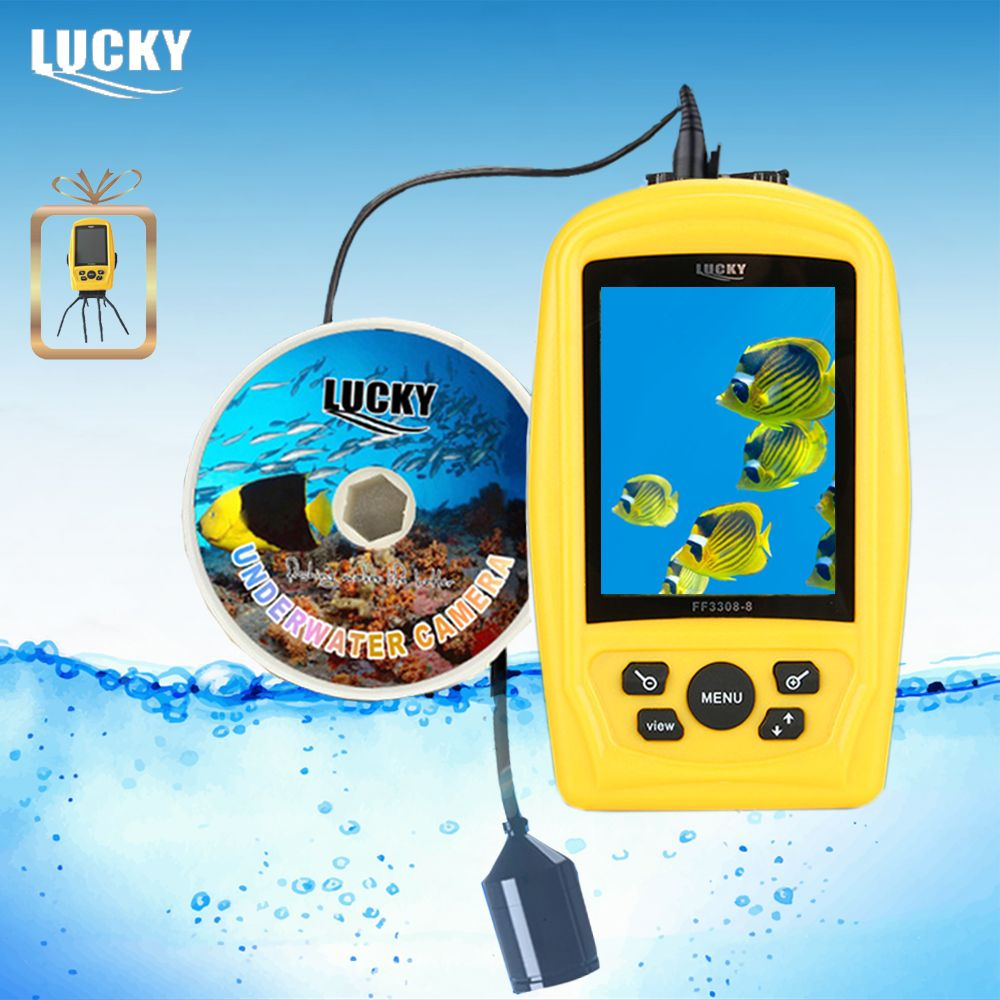 LUCKY FF3308-8 Portable Underwater Camera Fishing Inspection System CMD sensor 3.5 inch TFT RGB Waterproof Monitor 20M Cable #B9