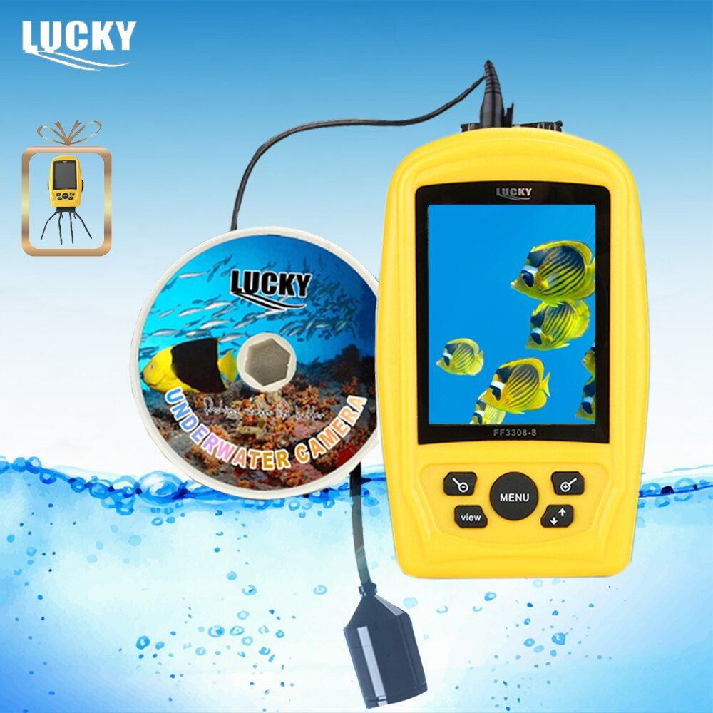 LUCKY FF3308-8 Portable <font><b>Underwater</b></font> Camera Fishing Inspection System CMD sensor 3.5 inch TFT RGB Waterproof Monitor 20M Cable #B9