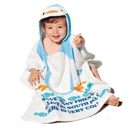 Venta caliente 100% del bebé del algodón de la playa vestido de playa albornoz niño toallas del bebé del cabo del capote del bebé toalla de baño infantil baño libre gratis