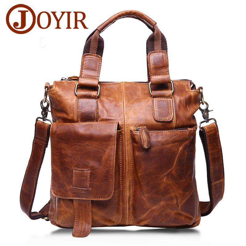 JOYIR en cuir véritable hommes porte-documents homme en cuir affaires bureau ordinateur portable sac pour hommes Messenger épaule sac à bandoulière sacs à main