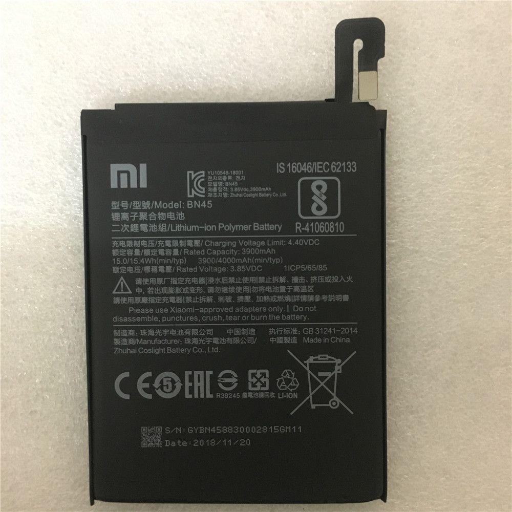 BN45 batterie de téléphone pour Xiao mi note2 rouge mi Note 5 Note5 Batteries de téléphone portable d'origine