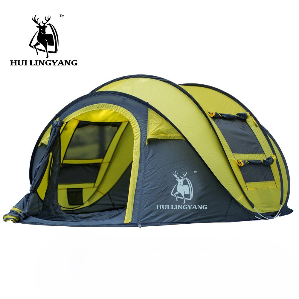 HUI LINGYANG throw tent outdoor automatic tents throwing pop up <font><b>waterproof</b></font> camping hiking tent <font><b>waterproof</b></font> large family tents