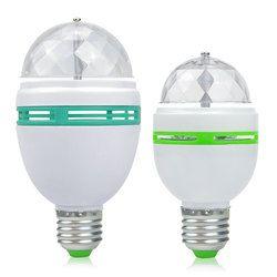 3 Вт, 6 Вт, E27 цветная (RGB) Светодиодная лампа лампочка Magic цветной проектор Авто вращающиеся лампы для сценического освещения AC85-265V 220 V 110 V для о...