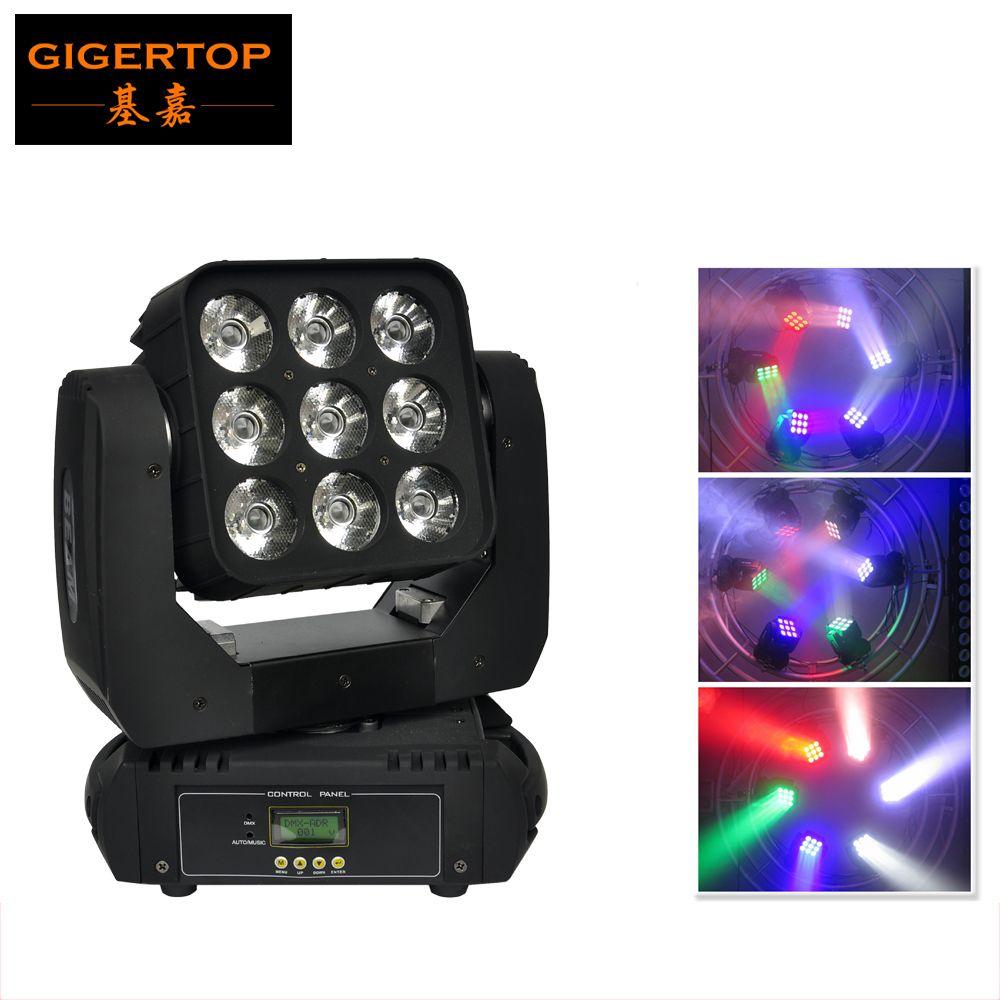 Gigertop CREE Led Moving Head Matrix Licht Strahl Led Disco Licht Led DMX 512 9x10 watt Strahl Licht AV110V-240V CE ROHS zertifizierung