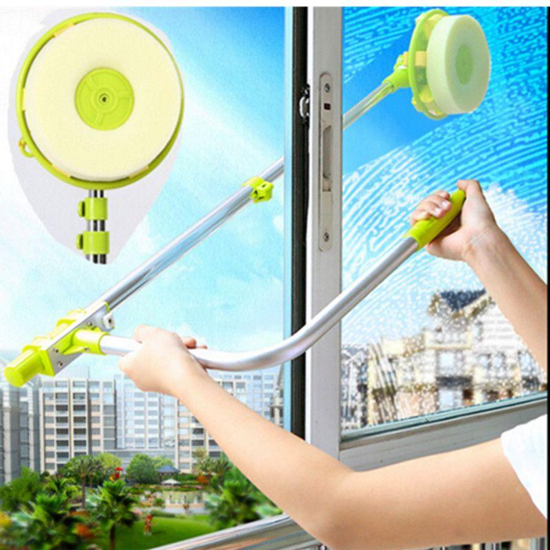Verre Fenêtre De Nettoyage Outil Rétractable Pôle Propre Fenêtre Dispositif Poussière brosse à laver à Double Face En Verre Grattoir Essuyer propre brosse