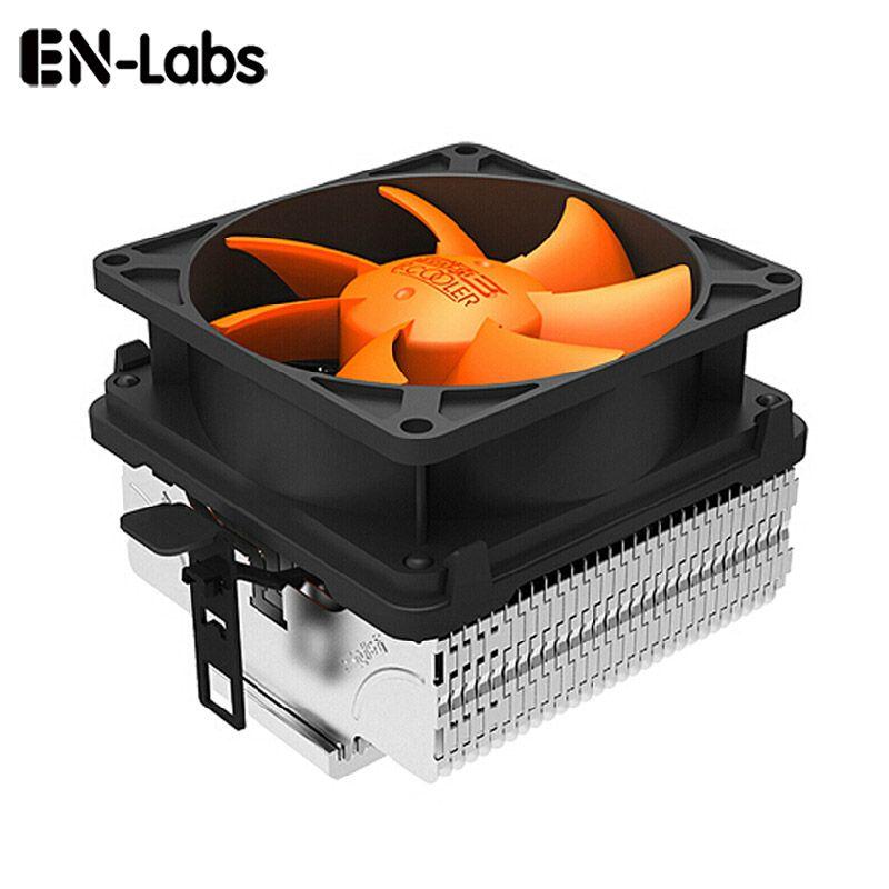 En-Laboratoires À Faible Bruit CPU Cooler w/80mm Amovible 3pin Ventilateur pour Intel LGA775/LGA115X, pour AMD 754/939 AM2/AM2 +/AM3 FM1/FM2