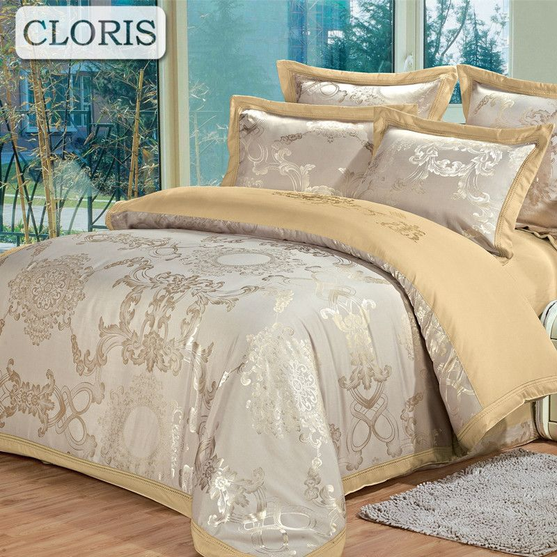CLORIS Design Arrive Cotton Bedding Set Jacquard Home Textile Comfortable Bed Cloth High Quality Bedding Full Queen King Size