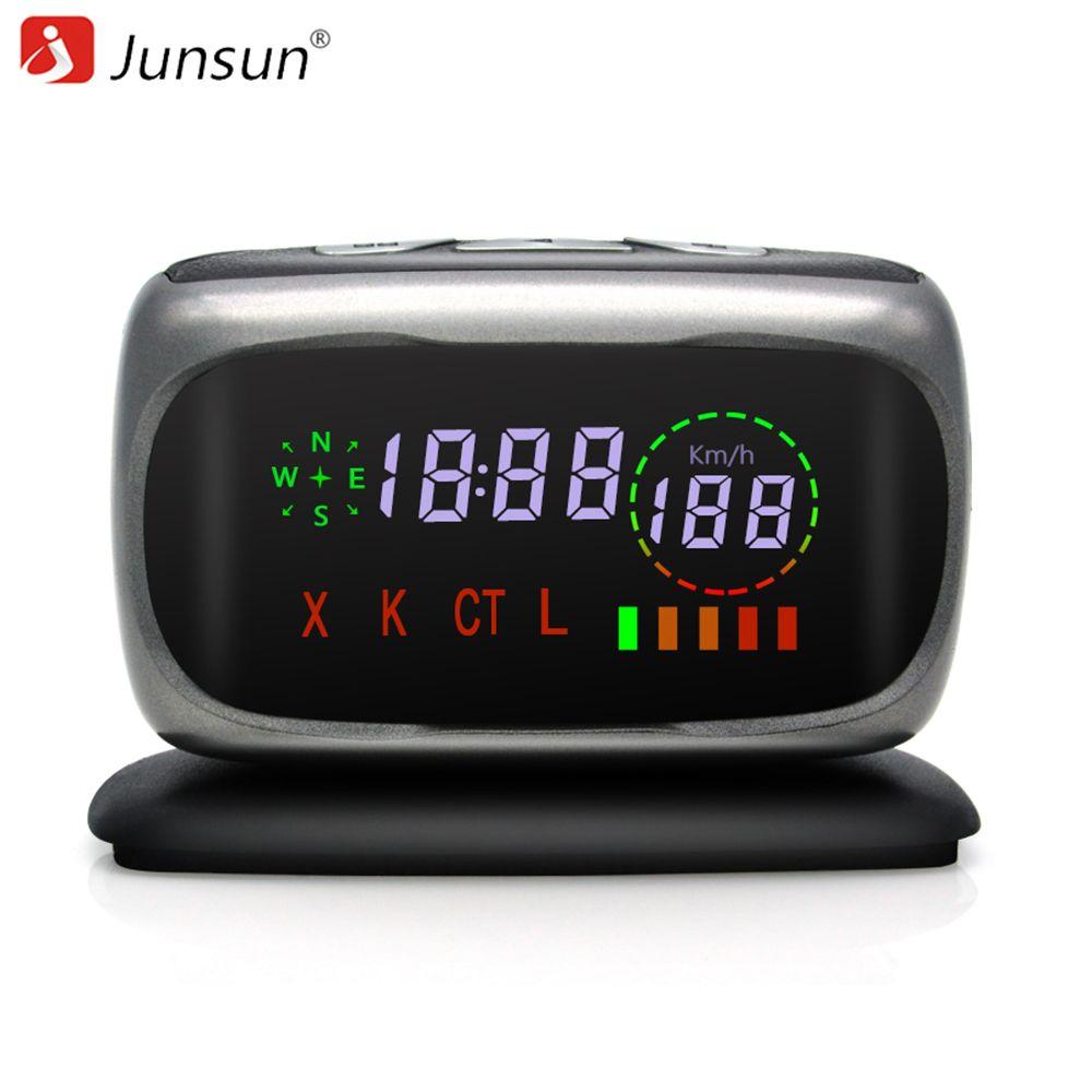 Junsun Car Radar Detector Anti Radar  X/K/CT/L 360 Degree Auto Detectors Radar Laser detector Voice Strelka for Russia