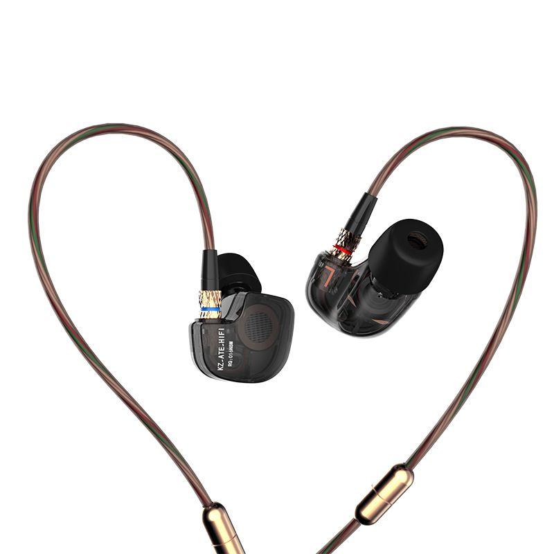 Original KZ ATE ATR ATES In-ear Earphones vs kz-ed2 se535 se215 Earbuds sport earphone Microphone se845 gift pk ED-12 zs6
