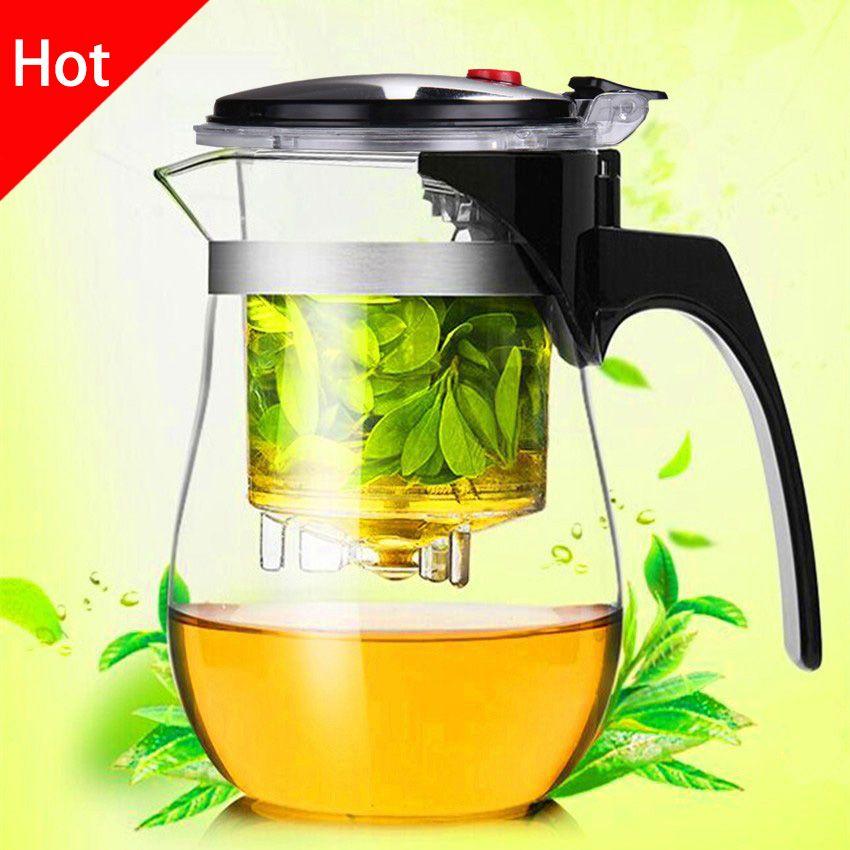 Qualité supérieure thermorésistant théière en verre Chinois kung fu service à thé Puer Bouilloire verre à café Maker Pratique Bureau théière