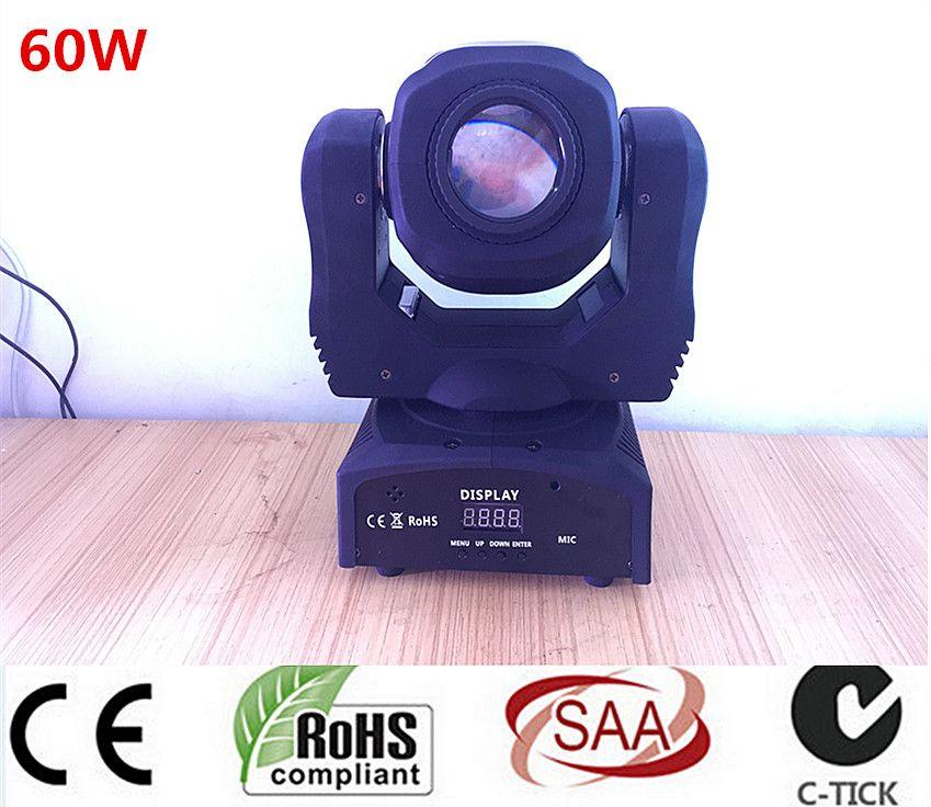 60 W LED Spot Luz Principal Móvil/EE.UU. Luminums 60 W LED DJ Spot luz 60 W cabezas móviles gobo luces super brillante LED DJ Spot luz