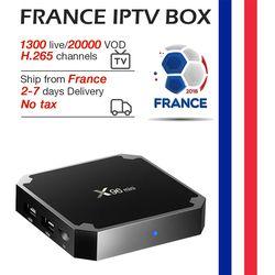 X96 mini tv box android 7.1 qhdtv 1400 + en direct hd vod neo iptv 2 gb 16 gb Amlogic S905W quad Core 2.4 ghz France iptv boîte de smart tv
