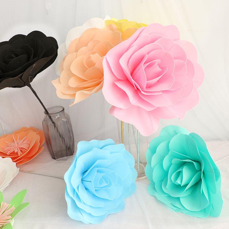30 cm grande mousse Rose fleur artificielle décoration de mariage avec des accessoires de scène décoration bricolage fleurs décoratives artificielles couronnes