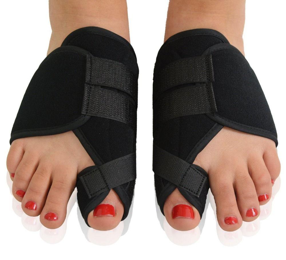 Bandage noir orthèse orteil séparateur Velet orteil entretoise pieds Hallux Valgus os soin pouce orthopédique orteil Correction Support
