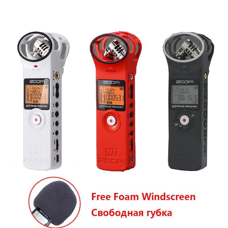 Portable Zoom H1 Zoom H1N Microphone Handy Numérique Enregistreur Enregistrement Stéréo De Poche Stylo pour Interview DSLR (NOUVELLE VERSION)