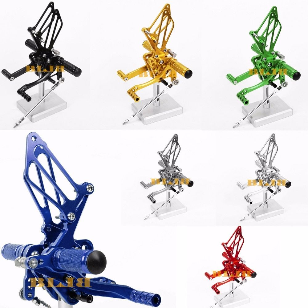 8 Colors CNC Rearsets For Suzuki SV650 SV650S 2000 - 2005 Rear Set Motorcycle Adjustable Foot Stakes Pegs Pedal 2004 2003 2002