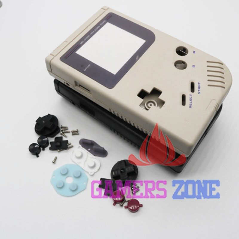 4pcs Black Grey Full Shell Housing Replacement Repair Pack Case Cover For GameBoy GB Classic DMG