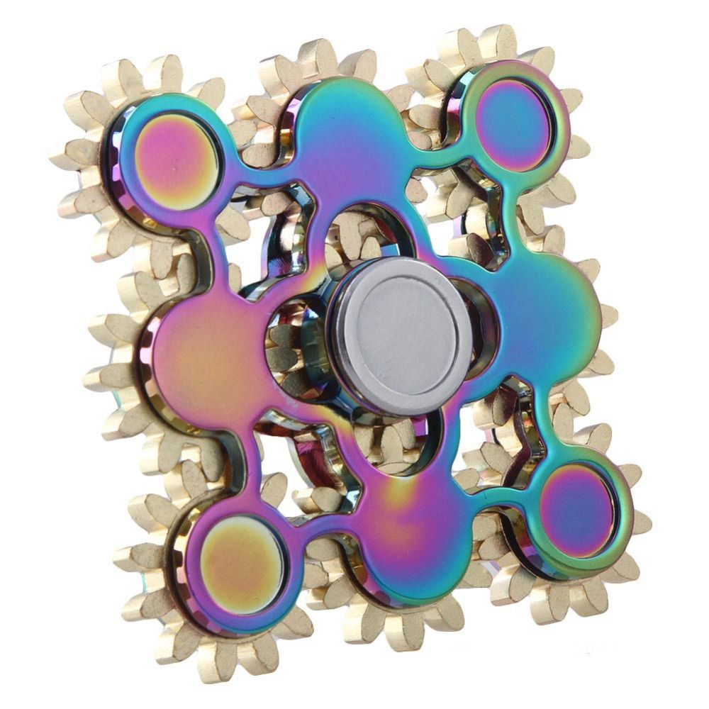 Rainbow Gear Hand Spinner Fidget Spinner Stress Cube Hand Spinners Focus And ADHD EDC Anti Stress Toys Fashion Tri -spinners