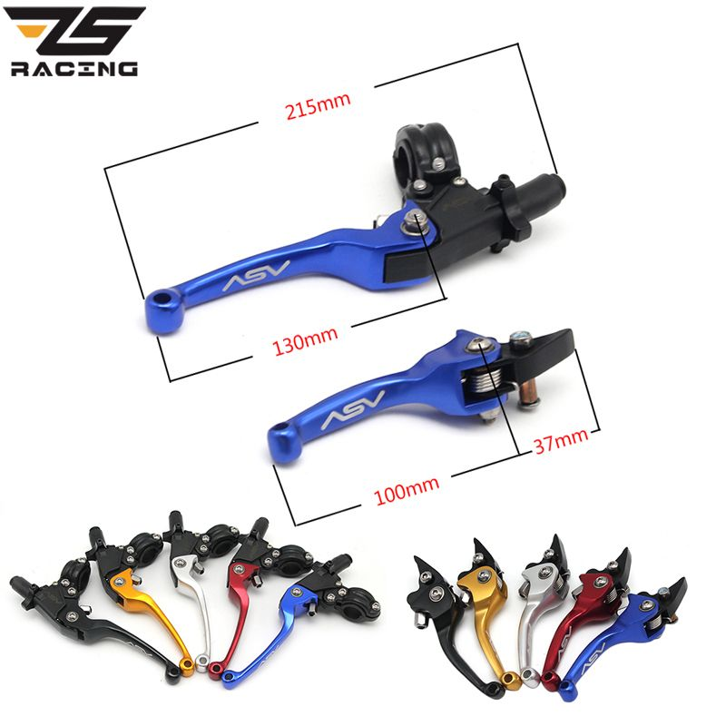 ZS Racing 22mm Alloy ASV F3 Series 2ND Clutch Brake Folding Lever Fit Most Motorcycle ATV Dirt Pit Bike Modify Parts Spare Parts