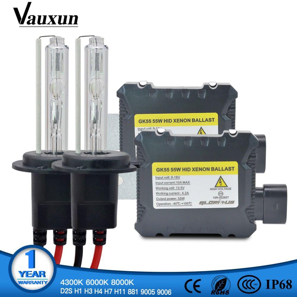 One Set H7 Xenon HID Kit H4 H1 H11 H8 9005 HB3 9006 HB4 881 D2S xenon hid ballast For Car Light Headlight 4300K 6000K 8000K 12V