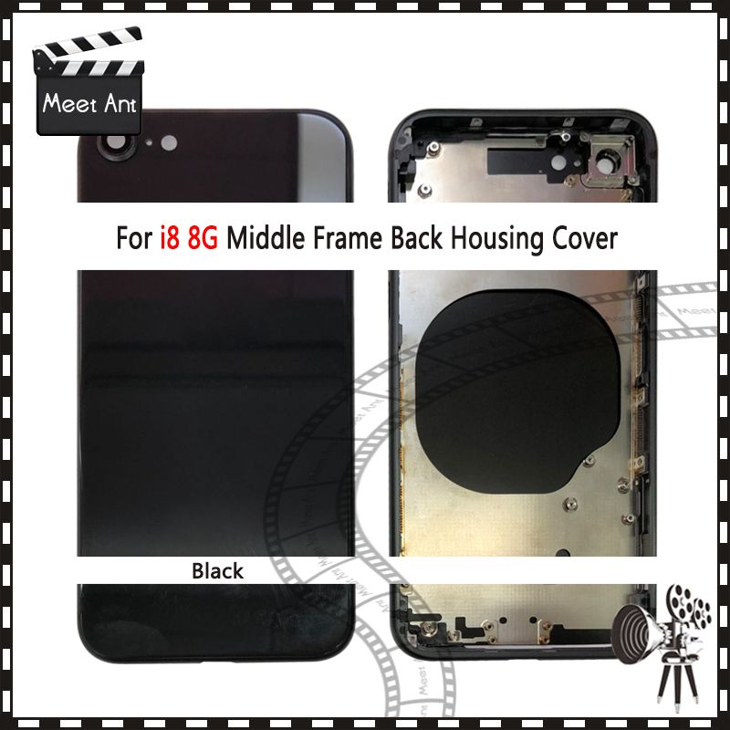 High Quality Back Cover For iphone 8 8G or 8 Plus 8Plus and For iphone X Housing Cover Rear Door Chassis Middle Frame
