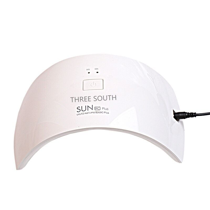 Three south LED Lamps SUN9c Plus 36W 18 LEDS UV Lamps Nail Fingernail Nail Dryer for All Gels with 30s/60s Nail dryers