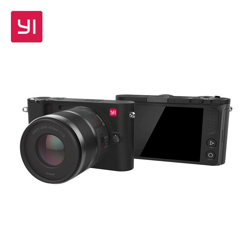 YI M1 Mirrorless Digital Camera Prime Zoom Two Lens LCD Minimalist International Version 20MP <font><b>Video</b></font> Recorder 720RGB Digital Cam