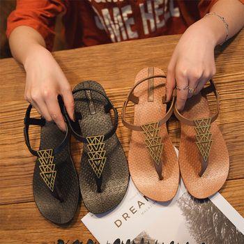 Moxxy Femmes Sandales En Cuir Véritable Doux Semelle En Caoutchouc Glissement De Base sur Femmes Chaussures D'été Bohème de Diamant Pantoufles Flip Flops