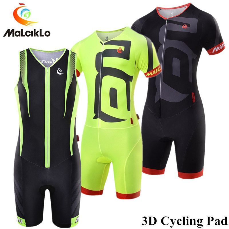 Malciklo Triathlon Skinsuit Cycling Jersey 2018 Pro Team 3D Pad Pockets Cycling Clothing Maillot Ropa Ciclismo Mens Sports Suits